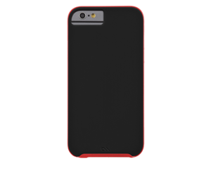 תמונה של Slim Tough Case for iPhone 6 Black/Red Case mate