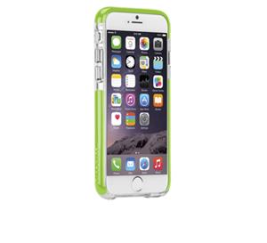 תמונה של TOUGH AIR CASE for iPhone 6 CLEAR/LIME GREEN Case mate