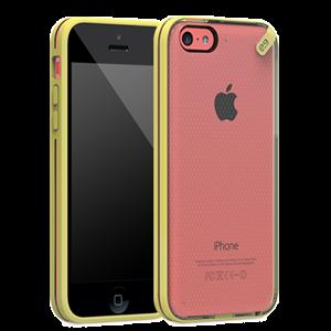 תמונה של Slim Shell iPhone 5C Clear\Yellow Pure Gear