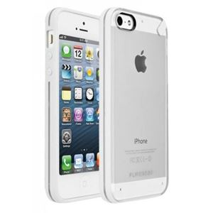 תמונה של Slim Shell iPhone 5C Clear\White Pure Gear