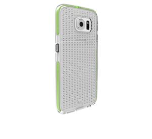 תמונה של Tough AIR Case for Galaxy S6 - Clear/Green-Lime Case mate