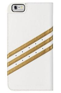 תמונה של Adidas Premium Booklet Case for Apple iPhone 6 Plus - White/Gold אדידס