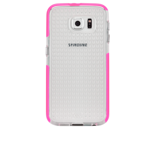תמונה של Tough AIR Case for Galaxy S6 -Clear/Pink Case mate