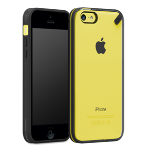 תמונה של Slim Shell iphone 5c- Clear/Black Pure Gear
