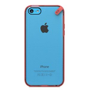 תמונה של Slim Shell iPhone 5C Clear\Red Pure Gear