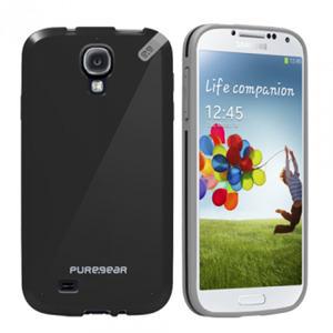 תמונה של Slim Shell Galaxy S4 Black Pure Gear